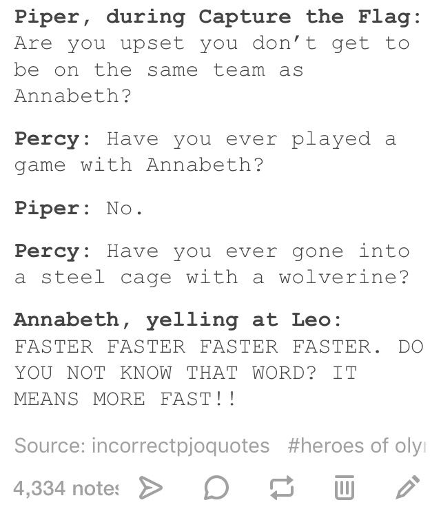 I think Percy and Piper can beat Annabeth and Leo. Ugh but I can't choose! Depends on who Nico is with. And I think it'll be Percy:P