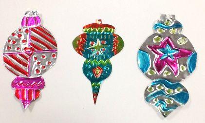 Tooled Metal Ornaments, gr.4