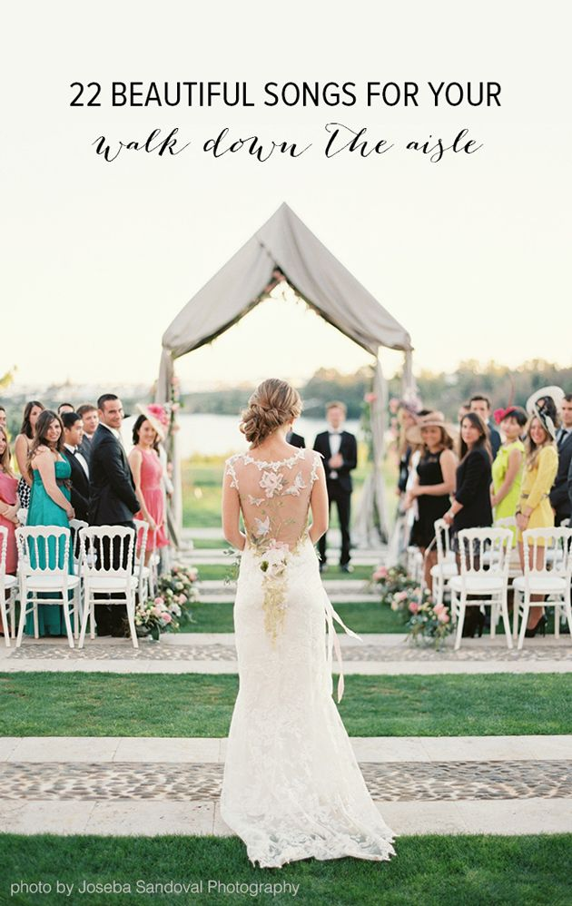 Processional Songs Playlist | Bridal Musings Wedding Blog Cute list of songs for a wedding!  I love breaking tradition.