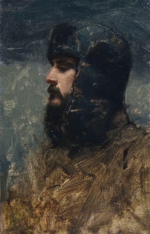 self portrait | oil on panel | 2011 | aaron westerberg