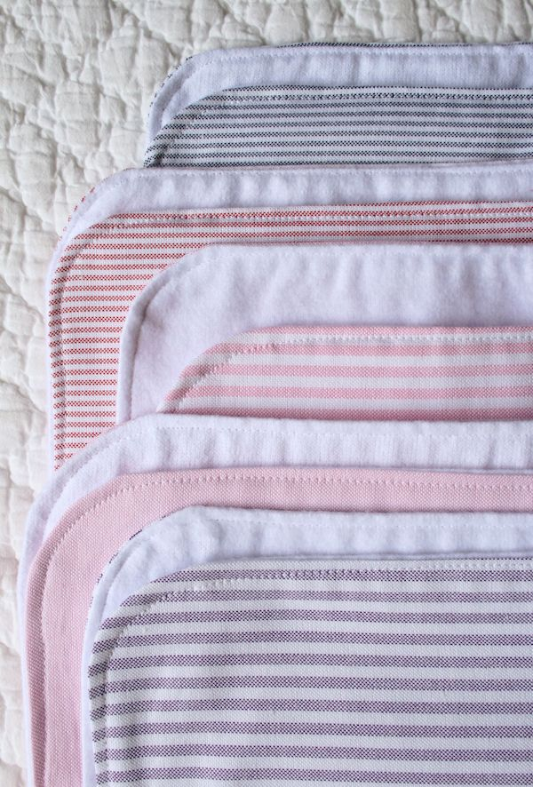 Oxford Burp Cloths - the purl bee