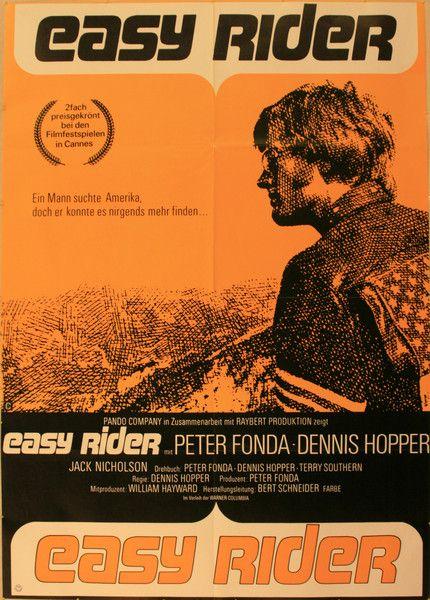 OnlineGalleries.com - Cinema Poster - Easy Rider, Peter Fonda, Dennis Hopper and Jack Nicholson