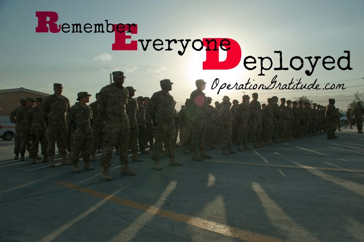 Every day is a good day to support and thank our heroes -- those who are currently serving and all who served in years past. On Fridays, wear RED to Remember Everyone Deployed.  Caption: Service members and civilians at Bagram Airfield, Afghanistan gathered to hold a 9/11 remembrance ceremony, Sept. 11, 2016.  (U.S. Air Force photo by Capt. Korey Fratini. Used with permission.)