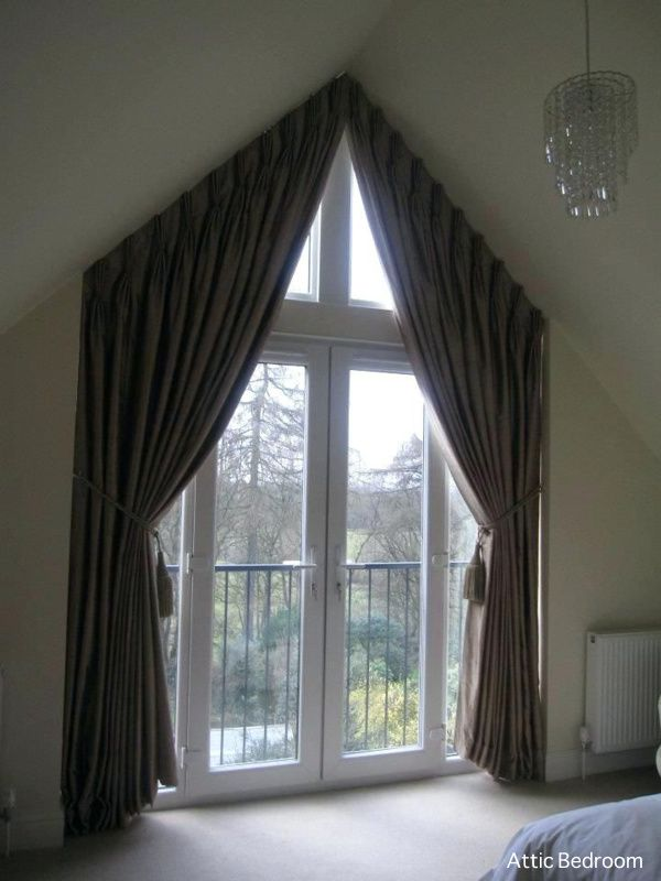 Attic Bedroom Ideas For Two Curtains For Arched Windows Arched Window Treatments Curtains