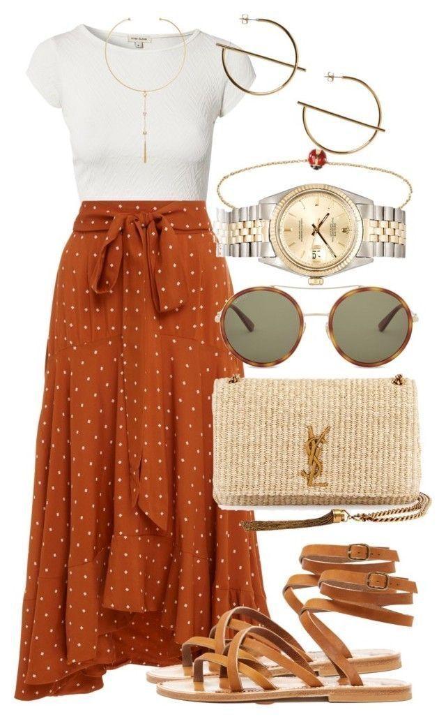 Ich würde diesen Rock in Marine oder Blau in diesem Outfit stattdessen lieben!