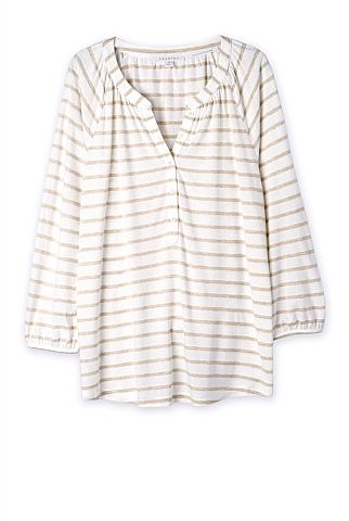 Bamboo Cotton Striped T-Shirt