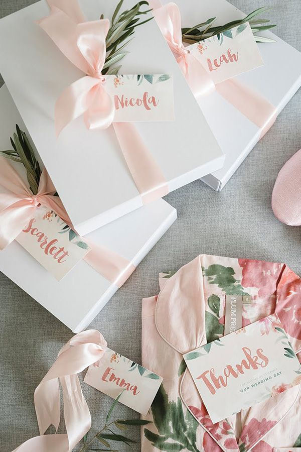 Beautiful bridesmaid gift boxes with getting ready robes | Guy Evans Photography via Ivory Tribe