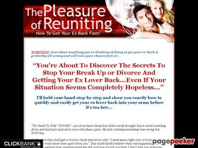 Product Name: Pleasure Of Reuniting – How To Get Your Ex Back – Relationship Advice – Break Up Advice   Click here to get Pleasure Of Reuniting – How To Get Your Ex Back – Relationship Advice – Break Up Advice at discounted price while it's still...