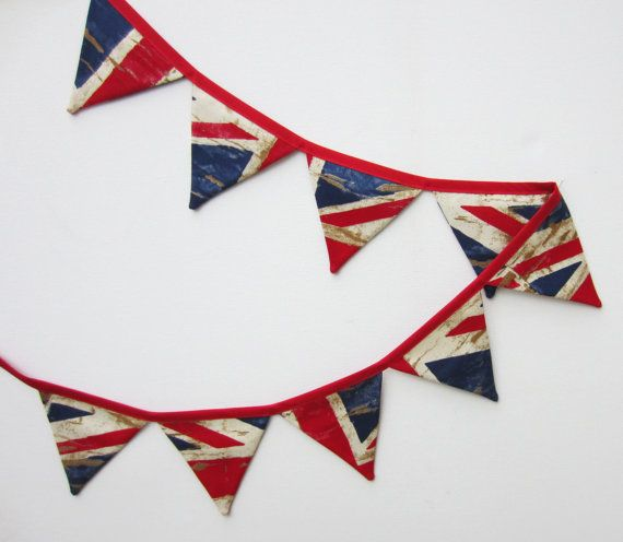 Mini Bunting Union Jack Style Bunting Fabric by AllTheTrimmingsUK