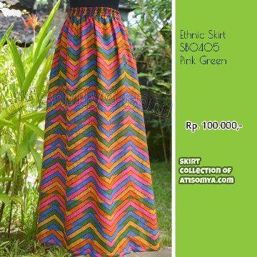 Rok Panjang Rang Rang Print Tenun Ikat Bali
