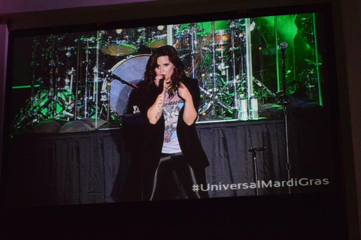 Demi Lovato performing at Universal Orlando's Mardi Gras! #Tickets for Universal #MardiGras