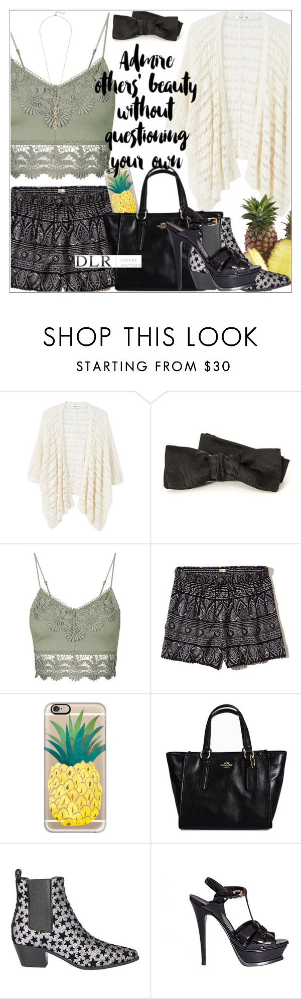 """""""DLRBOUTIQUE.COM"""" by mirachu-1 on Polyvore featuring MANGO, Yves Saint Laurent, Topshop, Hollister Co., Casetify and Cole Haan"""