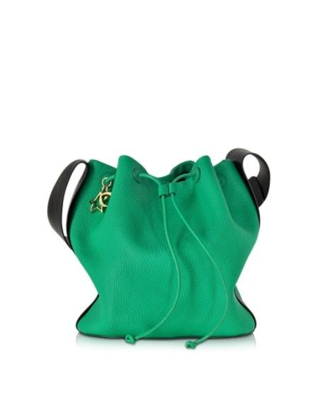 CORTO MOLTEDO MINT GREEN GOATSKIN BUCKET BAG