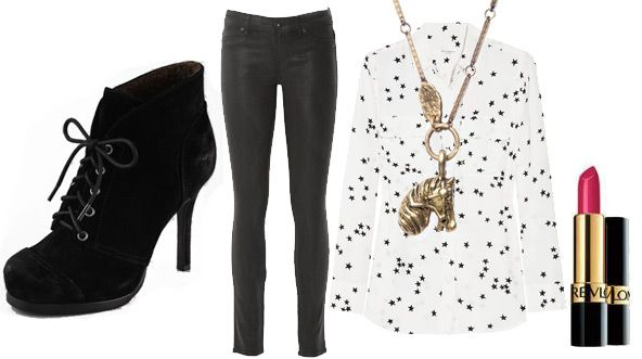 Cute concert outfit inspired by Emma Roberts