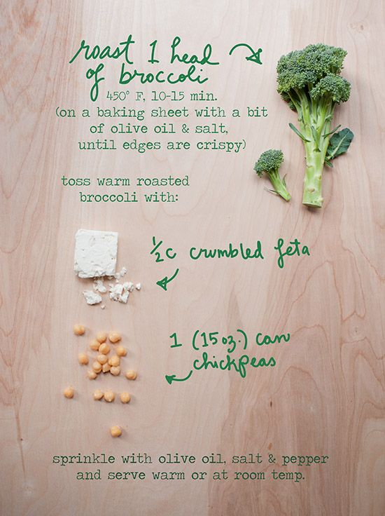 The Forest Feast's Roasted Broccoli with Feta & Chickpeas on Better Homes & Gardens blog @Better Homes and Gardens #delishdish