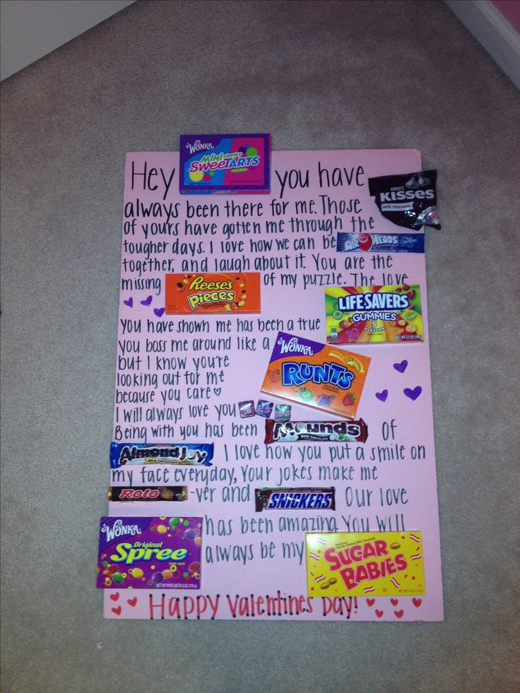 Friends Valentines Day Candy Poster