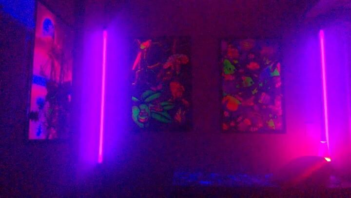 16 best blacklight room ideas images on pinterest for Blacklight bedroom designs