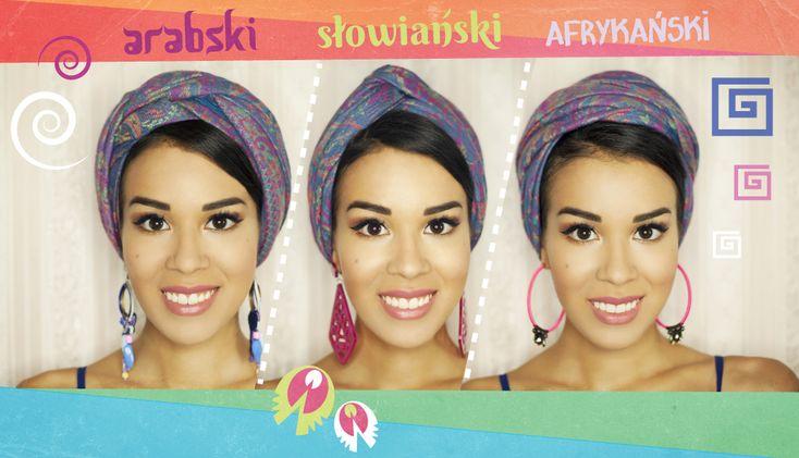 3 sposoby na turban I. ARABSKI II. SŁOWIAŃSKI III. AFRYKAŃSKI