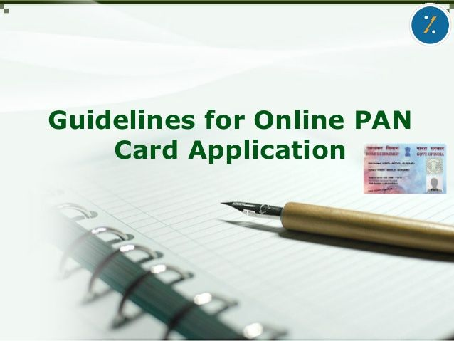 Guidelines for Online PAN Card Application