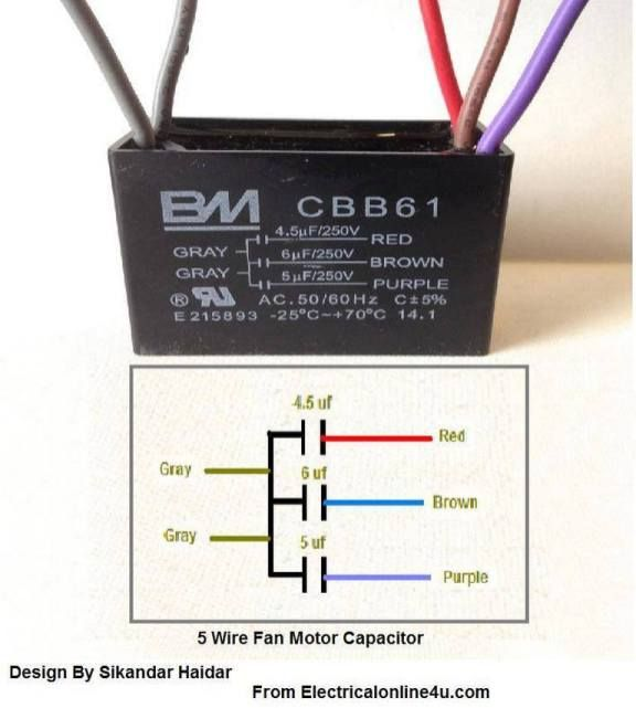 Cbb61 Ceiling Fan Capacitor Wiring Diagram