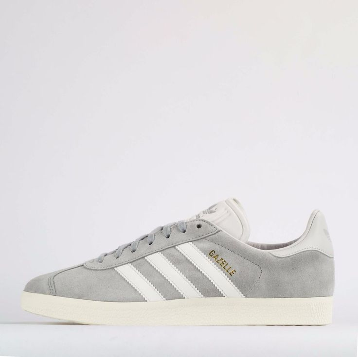 adidas Originals Gazelle Men's Suede Casual Trainers Shoes Grey/White #adidasOriginals #CasualTrainersShoesSneakers
