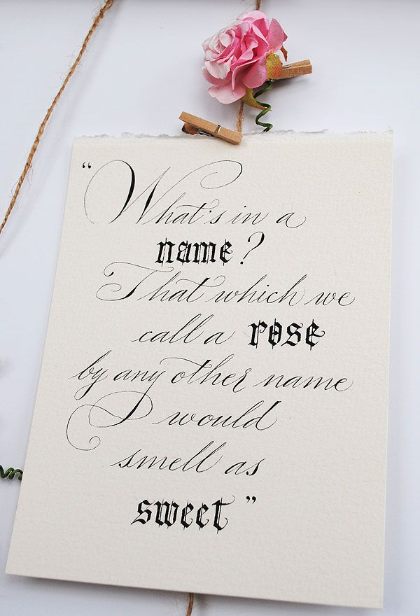 Calligraphy Quotes And Wedding Signs