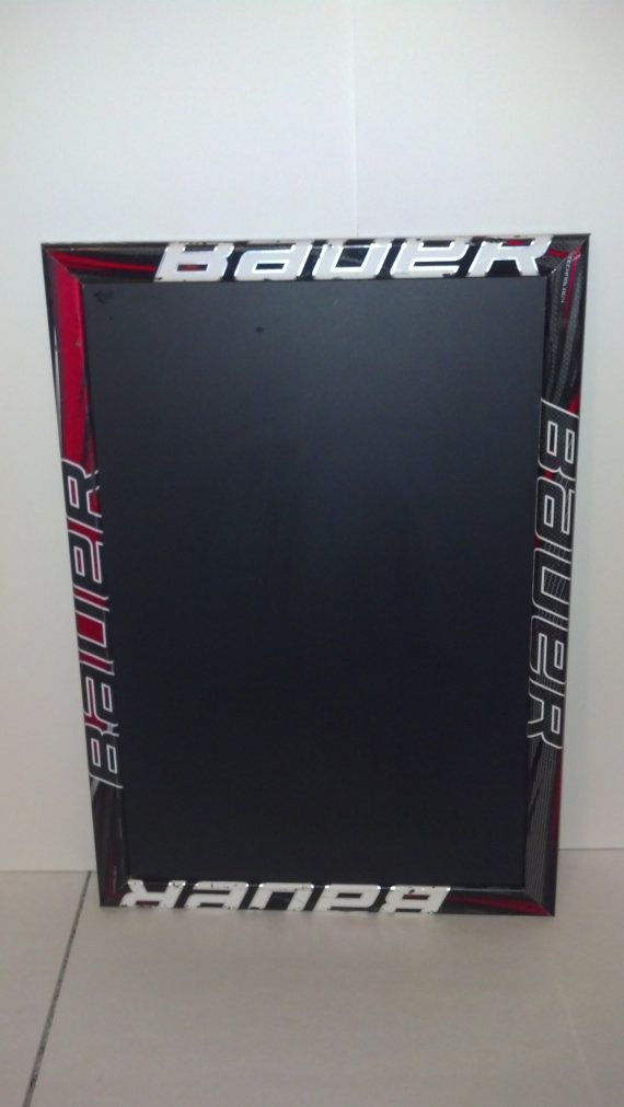 """custom order/ Magetic Hockey stick framed chalk boards 23"""" x 16"""" weighs approx 3 lbs FREE SHIPPING us residents only"""