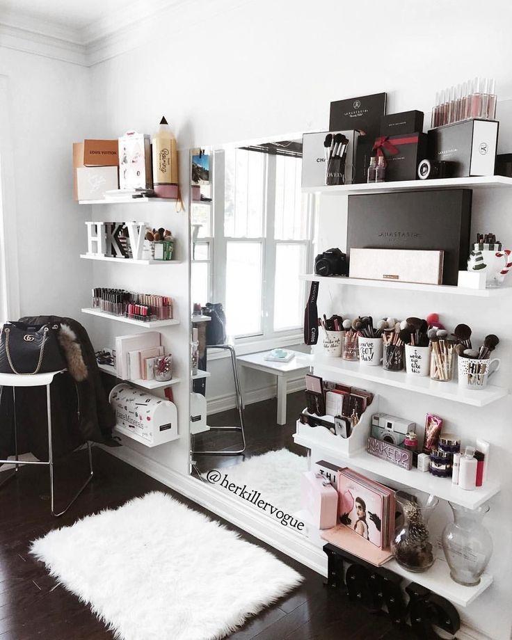 40 Easy Makeup Organizer – Ideen für die richtige Aufbewahrung (35   – wohnen