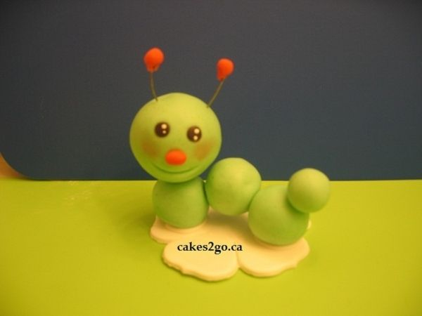 Gum Paste Fondant Dragenfly Bug cake topper