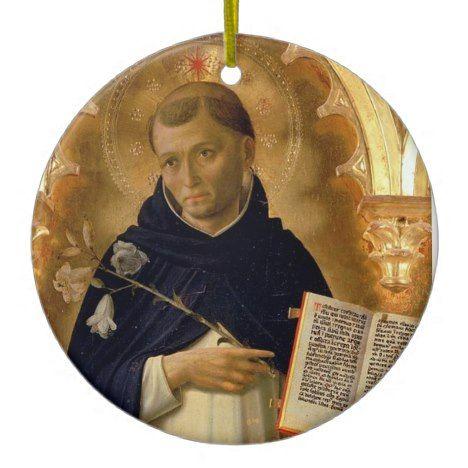 Saint Dominic Christmas Ornament #PatronSaints #MaleSaints #StDominic #ReligiousGifts