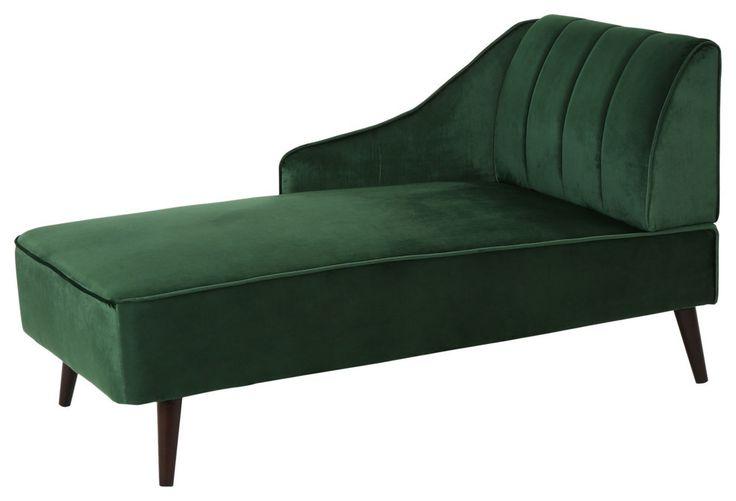 Gdf studio indira glam velvet chaise lounge midcentury