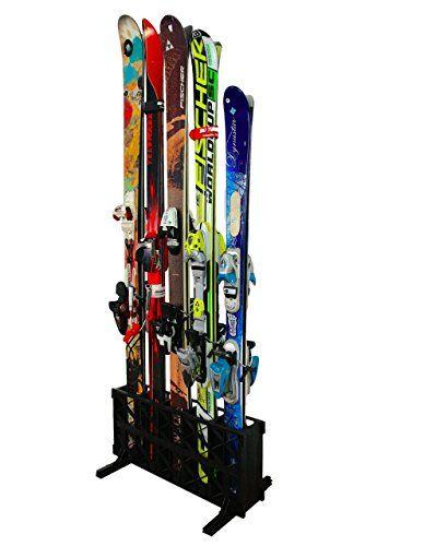 Ski Storage Rack   Freestanding 4 Pair Skis Floor Rack   ... Https: