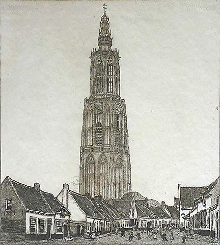 Amersfoort (De Lieve-Vrouwe-toren) W. O. J. NIEUWENKAMP Dutch, (1874-1950)