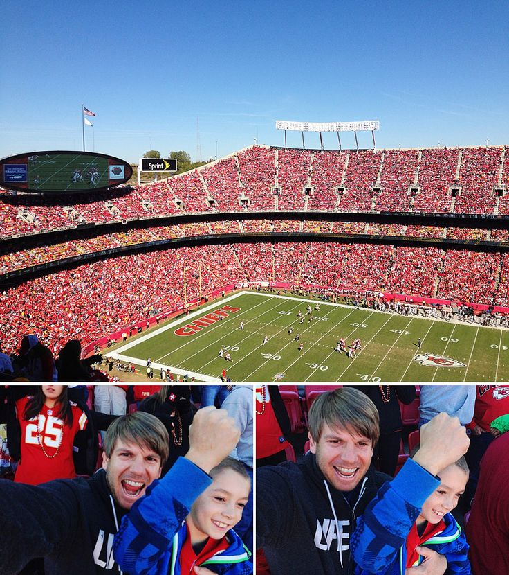 boy at his first chiefs game | giving kids the gift of experiences, not things