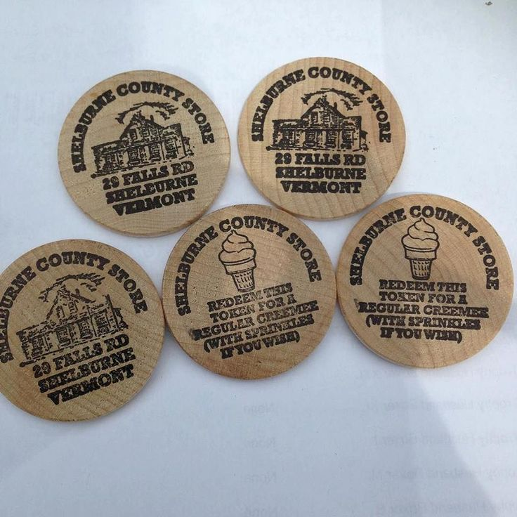 Shelburne Country Store - Wooden Nickle Creemee Gift Certificate, $2.50 (http://www.shelburnecountrystore.com/wooden-nickle-creemee-gift-certificate/)