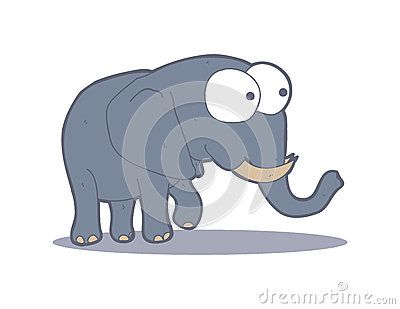 Simple drawing of an elephant