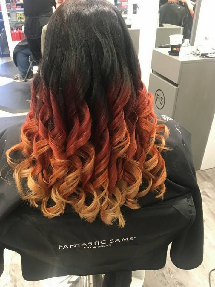 This Color Transformation From Fantastic Sams Salem Is Fire Hair Color Hair Styles Hair