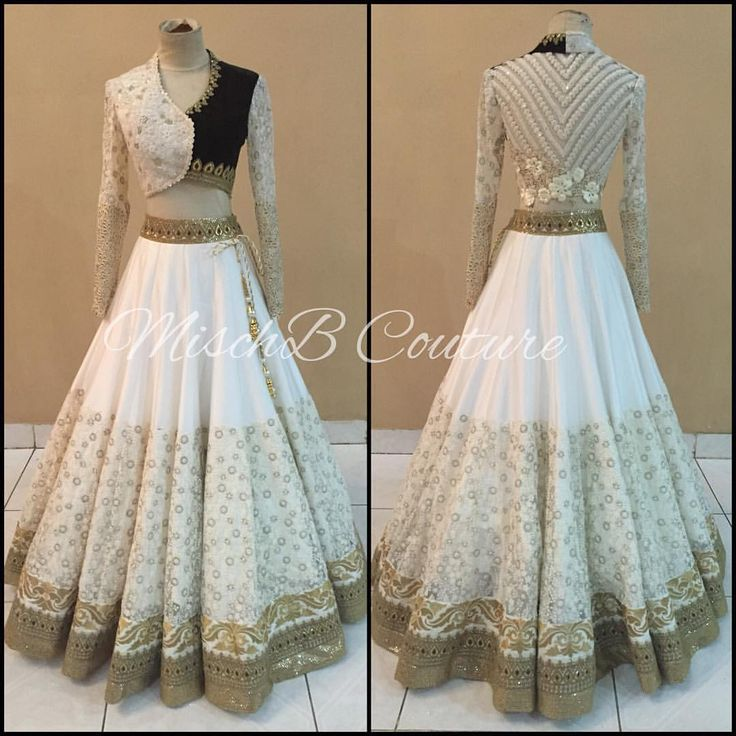 White Out, lehenga by Misch B #designeroutfits