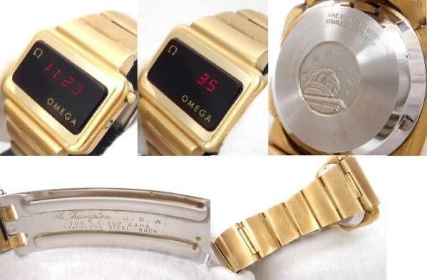 #1656◆中古品◆オメガ タイムコンピューター LED 腕時計_画像3