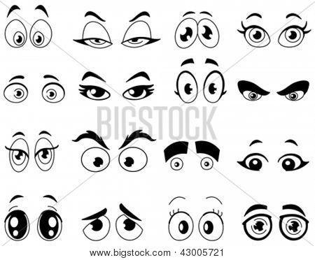 Ojos en dibujos animados - Imagui