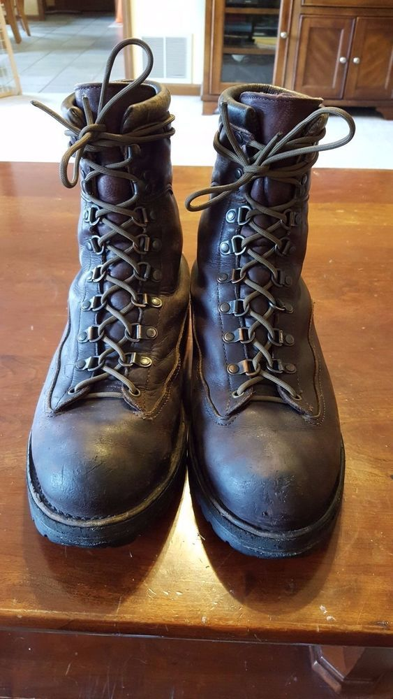 Leather Boots Size 12 Medium Made In USA Danner HikingTrail Boots