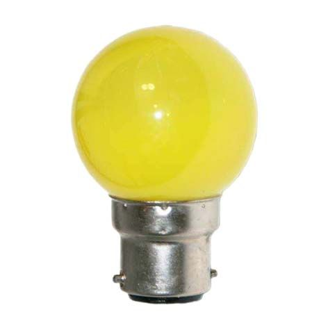 Ampoule LED SMD 4 couleur 0,62W 30lm - JAUNE - B22