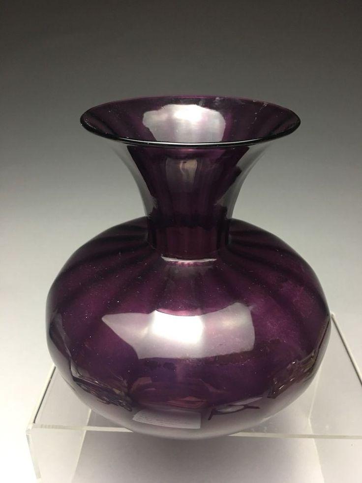 Details About Vtg Original Eric Kvarnes Art Glass Vase Va Artisan Signed Dated 9 82 Fine