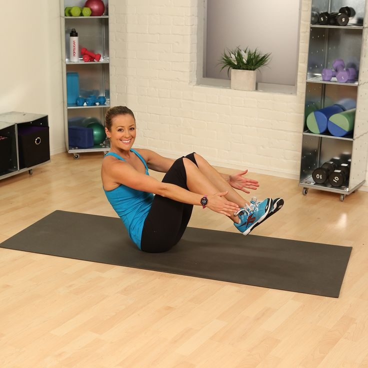 One-minute fitness challenge to rock your abs! See show many reps of the atomic crunch you can do in 60 seconds.