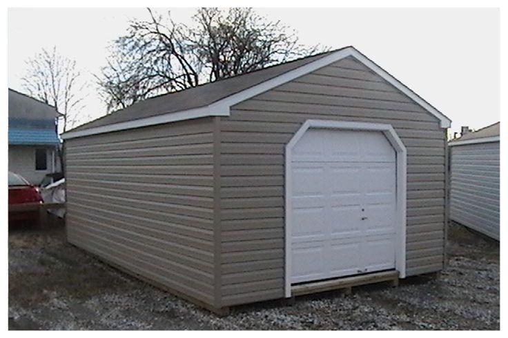 Vinyl A-Framed Garage #AmishBuilt #Barn http://mdsheds.com/garages-baltimore-hand-built-amish-garages-barns-baltimore-county-md.php