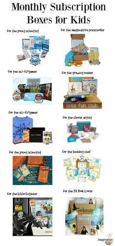 last minute gift ideas for kids! Monthly subscription boxes for all interests and ages