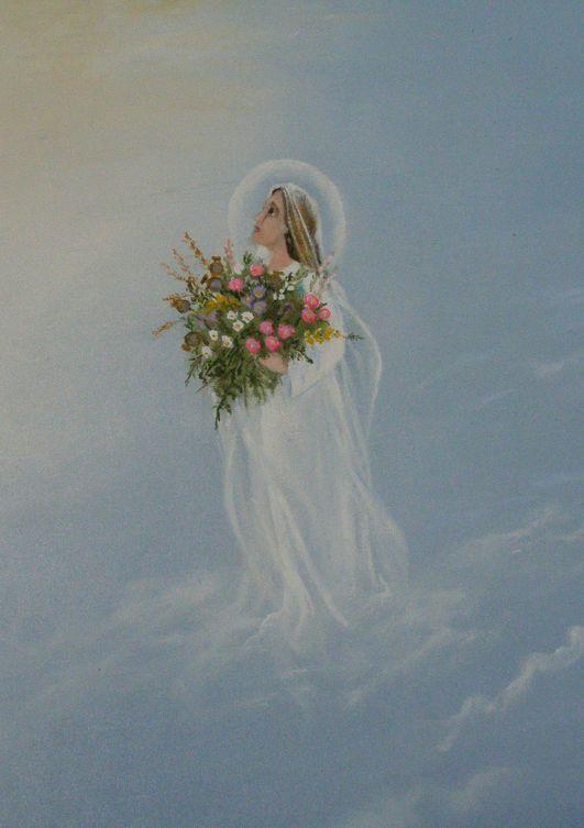 Święto Matki Boskiej Zielnej. Obraz namalowany przez Stanisławę Pudełkiewicz z Krzeszowa.