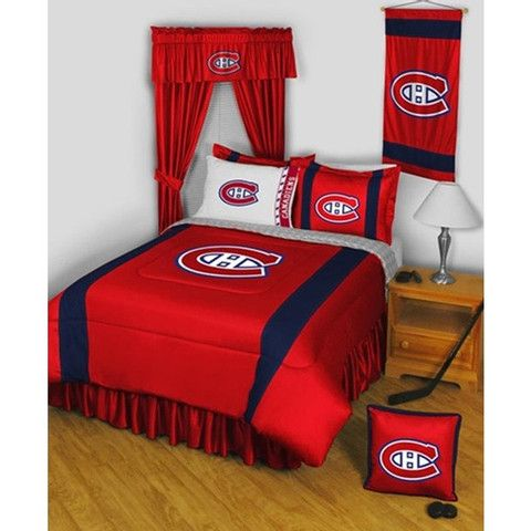 Use this Exclusive coupon code: PINFIVE to receive an additional 5% off the Montreal Canadiens Sidelines Bedding / Accessories Set - Twin, Full, Queen sizes at SportsFansPlus.com