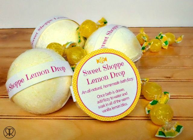 Lemon-Bath-Fizzy-by-Ruffles-and-Rain-Boots Bath Bombs and Shower Fizzies Part 1