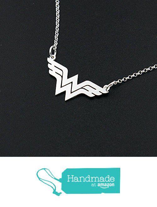 Dainty Delicate Wonder Woman necklace Bar sterling silver Wonder Woman symbol - super hero - gift for women - girl jewelry - strong woman - amazing mom gift Diana Prince symbol from Silversmith925 https://www.amazon.com/dp/B071FPMKJN/ref=hnd_sw_r_pi_dp_oB4lzbHZ6G5PX #handmadeatamazon